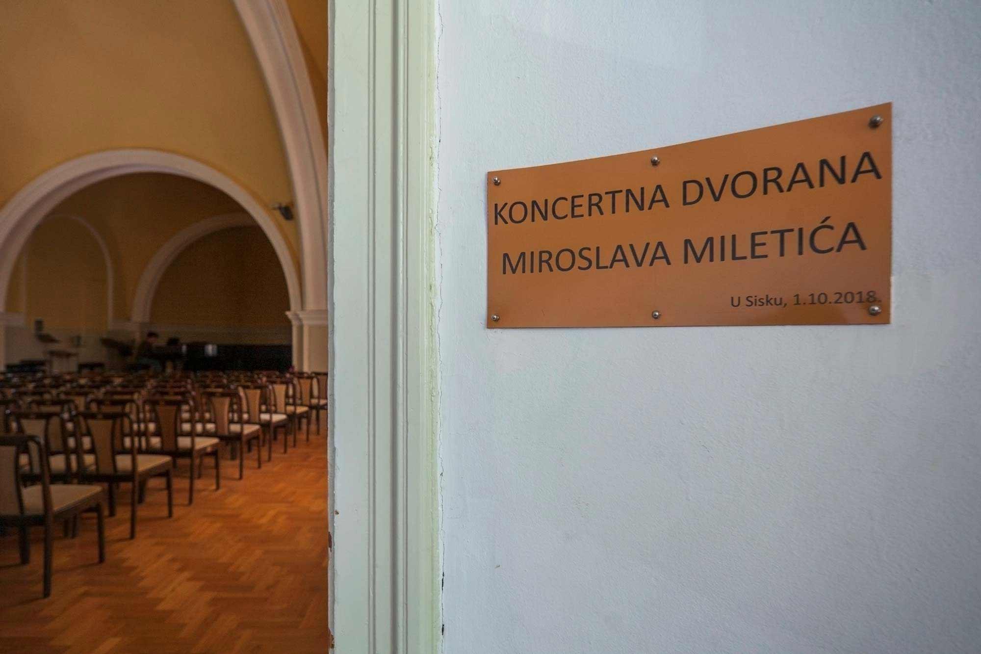 Glazbena škola Frana Lhotke Koncertna dvorana Miroslava Mileti
