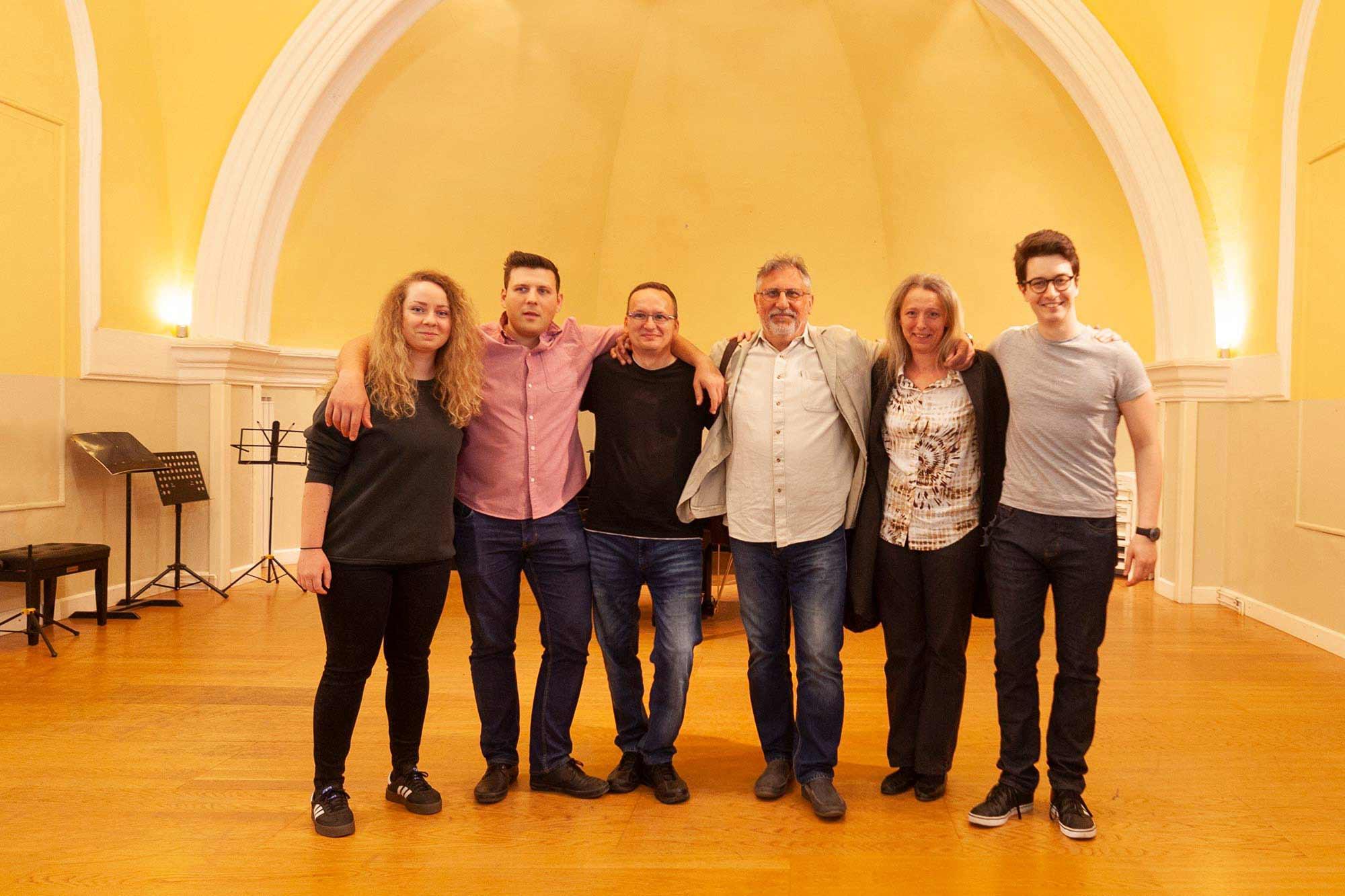 Glazbena škola Frana Lhotke, koncertna dorana, djelatnici