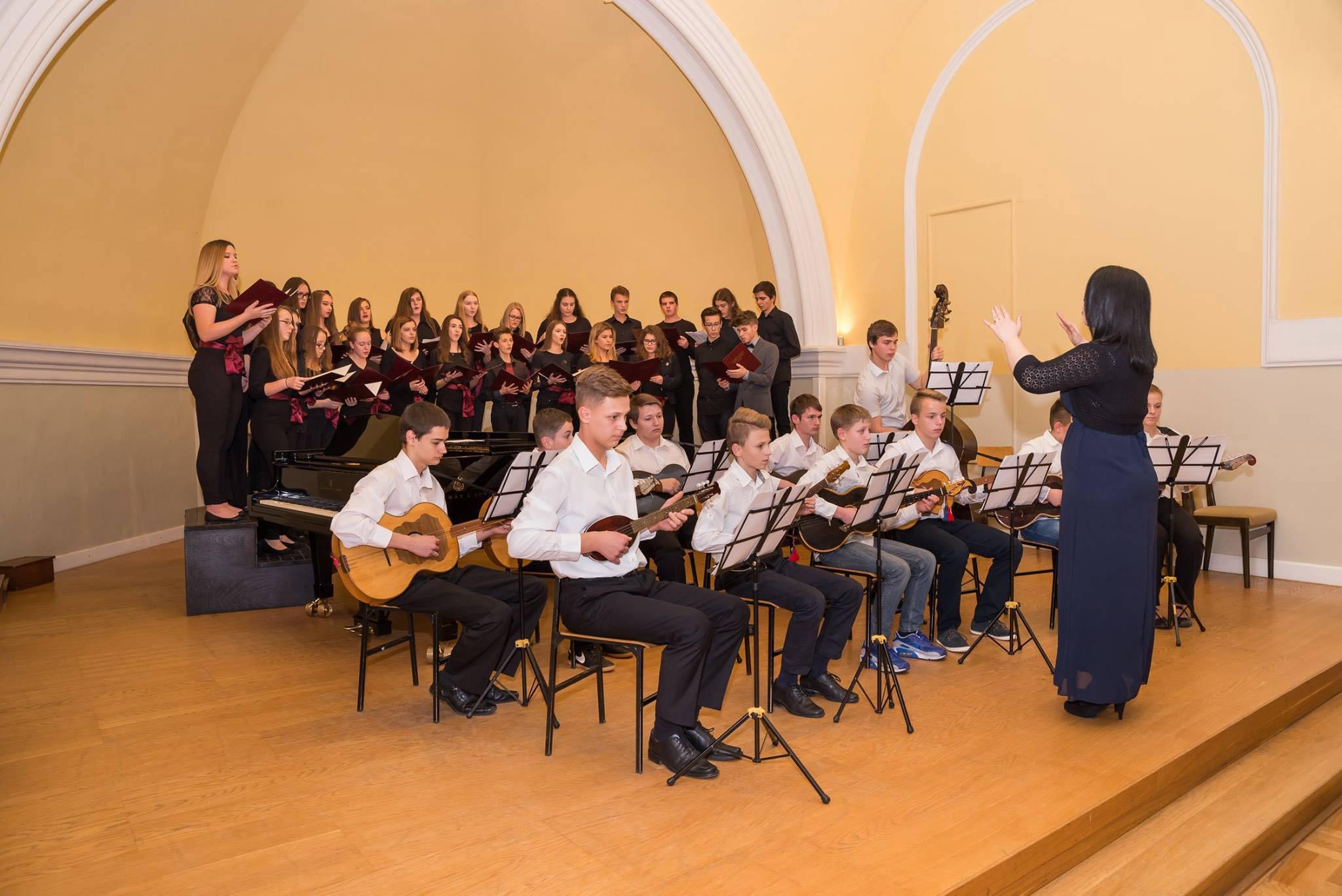 Glazbena škola Frana Lhotke - koncert u koncertnoj dvorani u Sisaku, zbor i orkestar