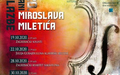 20. Dani glazbe Miroslava Miletića (19.-30. listopada 2020. godine)